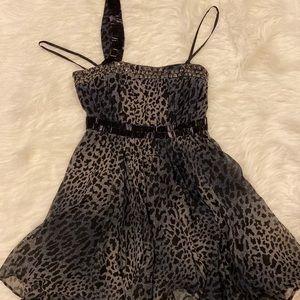 BeBe leopard print beaded evening dress size XS